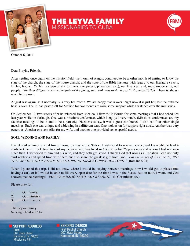 thumbnail of Ricardo Leyva October 2014 Prayer Letter