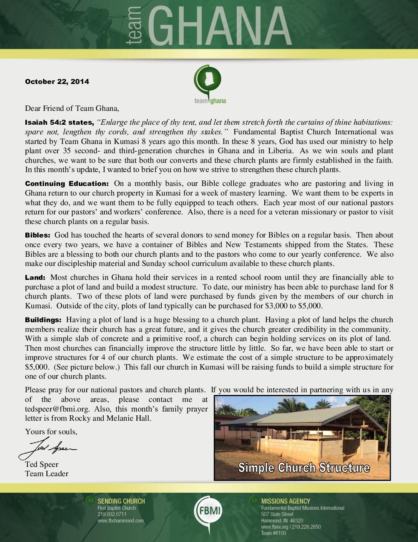 thumbnail of Team Ghana October 2014 Update
