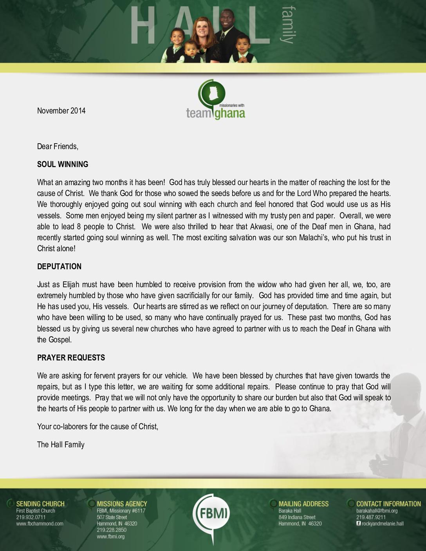 thumbnail of Baraka Hall November 2014 Prayer Letter