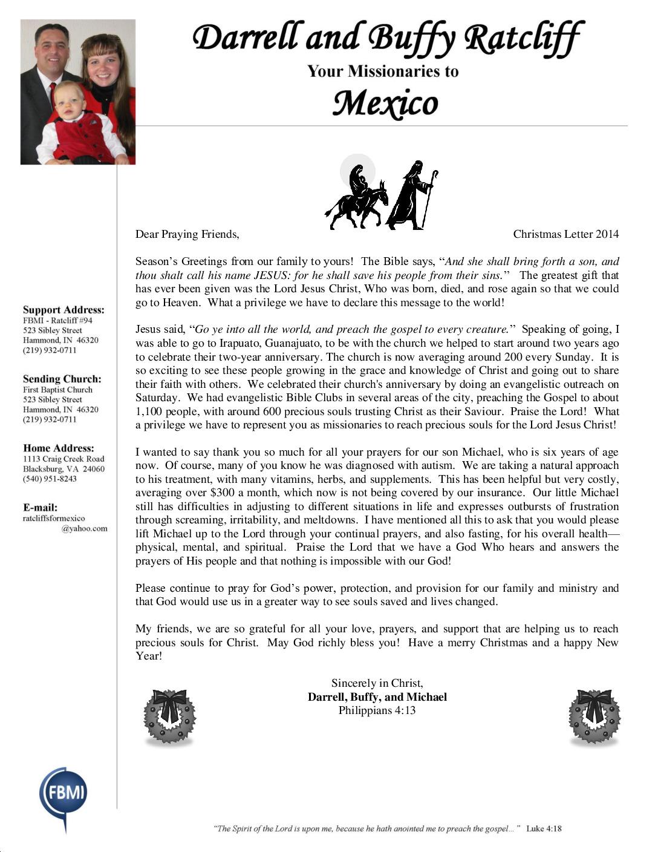 thumbnail of Darrell Ratcliff December 2014 Prayer Letter