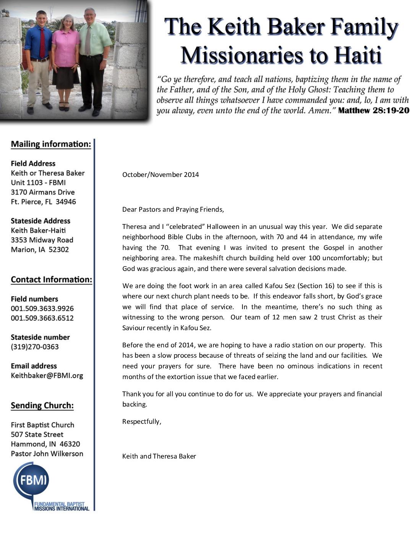 thumbnail of Keith Baker Oct-Nov 2014 Prayer Letter