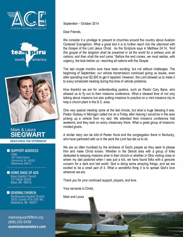 thumbnail of Mark Siegwart Sep-Oct 2014 Prayer Letter