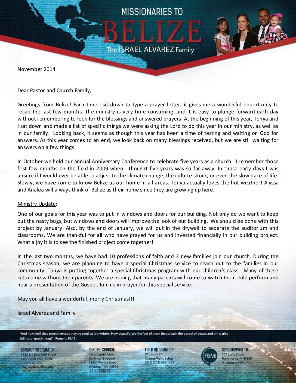 thumbnail of Israel Alvarez November 2014 Prayer Letter