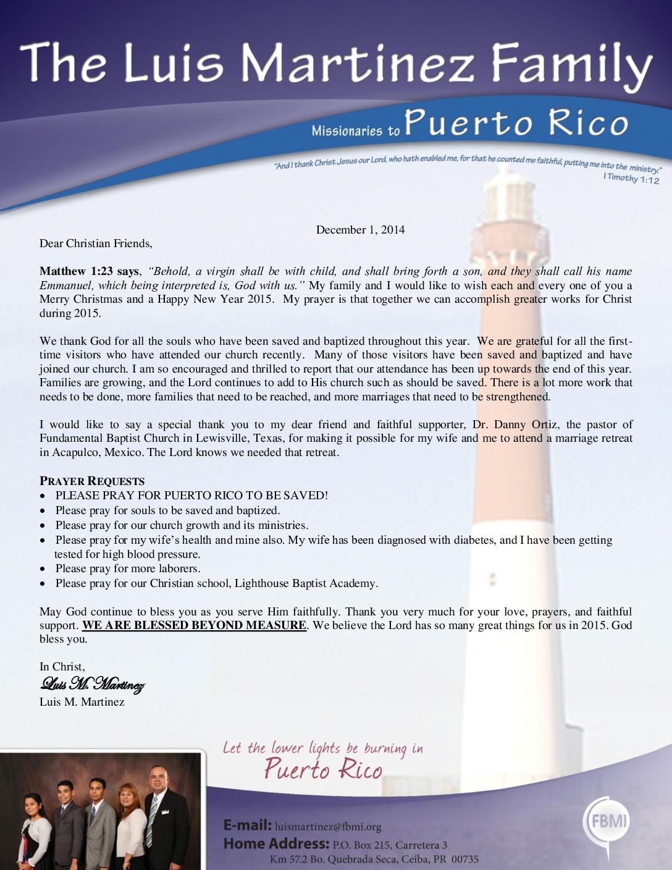 thumbnail of Luis Martinez December 2014 Prayer Letter