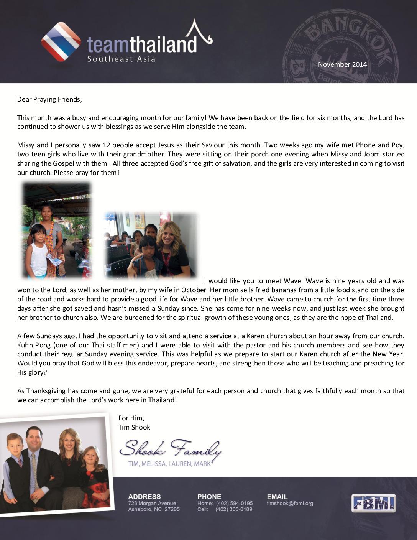 thumbnail of Tim Shook November 2014 Prayer Letter