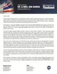 Bob Bowen Prayer Letter:  Tangkhul Naga Baptist Convention