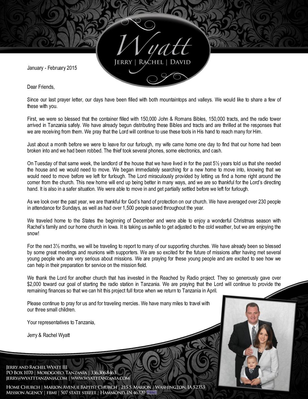 thumbnail of Jerry Wyatt III Jan-Feb 2015 Prayer Letter