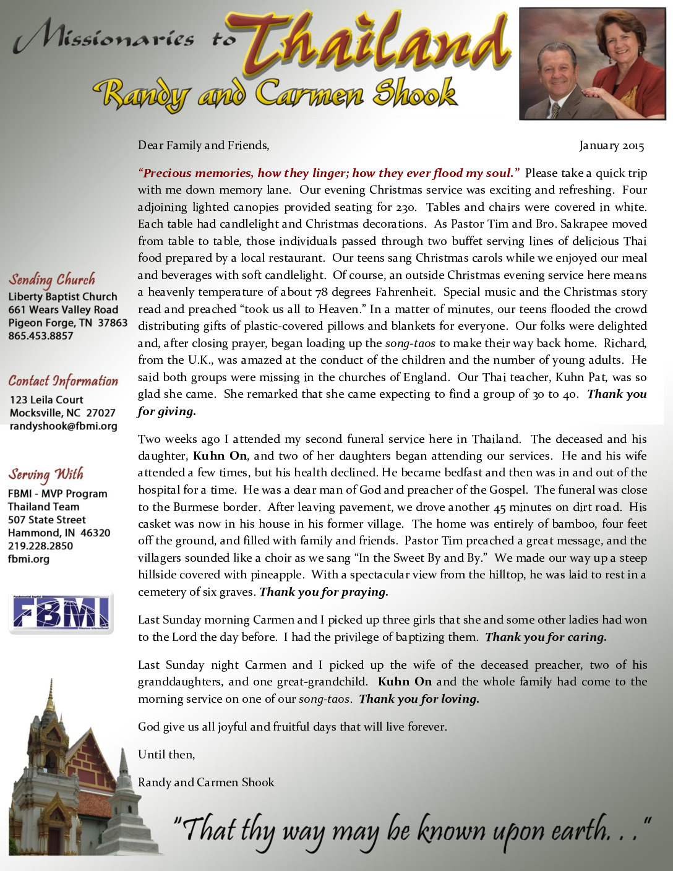 thumbnail of Randy Shook January 2015 Prayer Letter