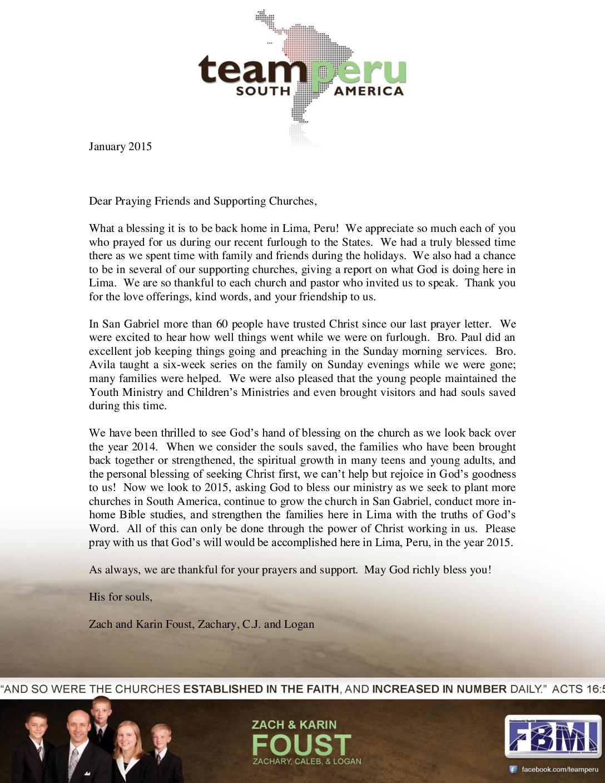 thumbnail of Zach Foust January 2015 Prayer Letter