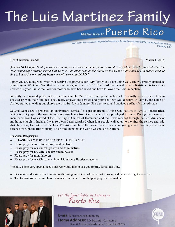 thumbnail of Luis Martinez February 2015 Prayer Letter