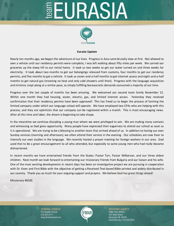thumbnail of Missionary 6501 Jan-Feb 2015 Prayer Letter