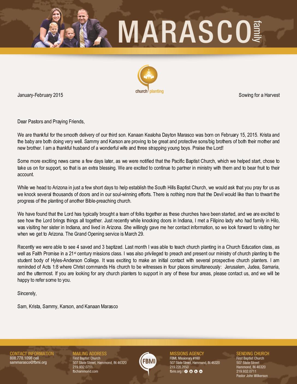 thumbnail of Sam Marasco January 2015 Prayer Letter