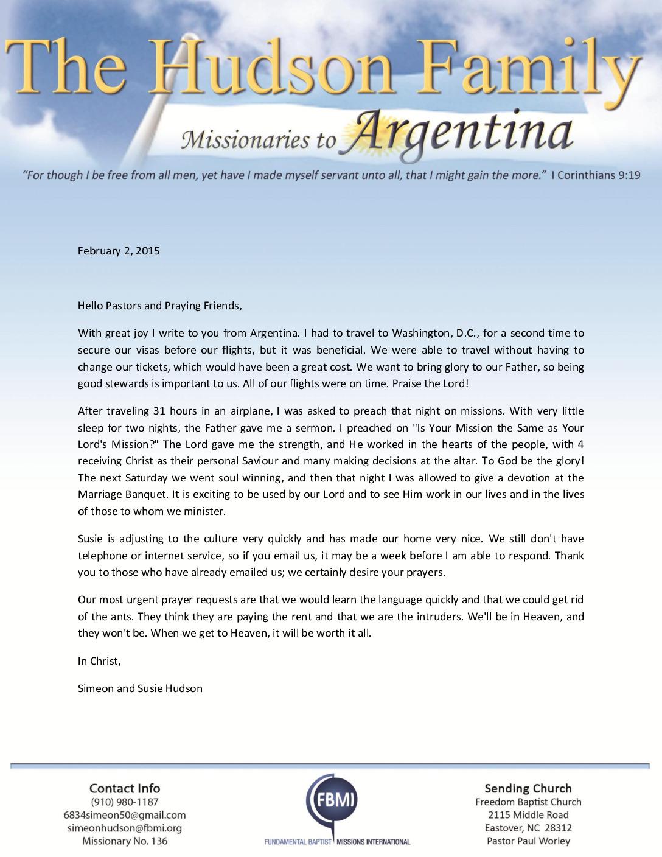 thumbnail of Simeon Hudson February 2015 Prayer Letter