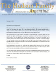 Simeon Hudson Prayer Letter:  Welcome to Argentina!
