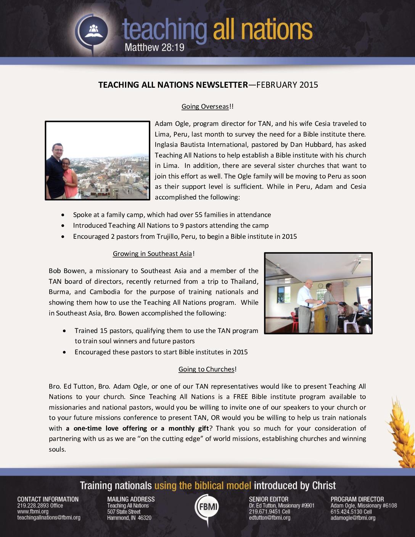 thumbnail of TAN February 2015 Prayer Letter