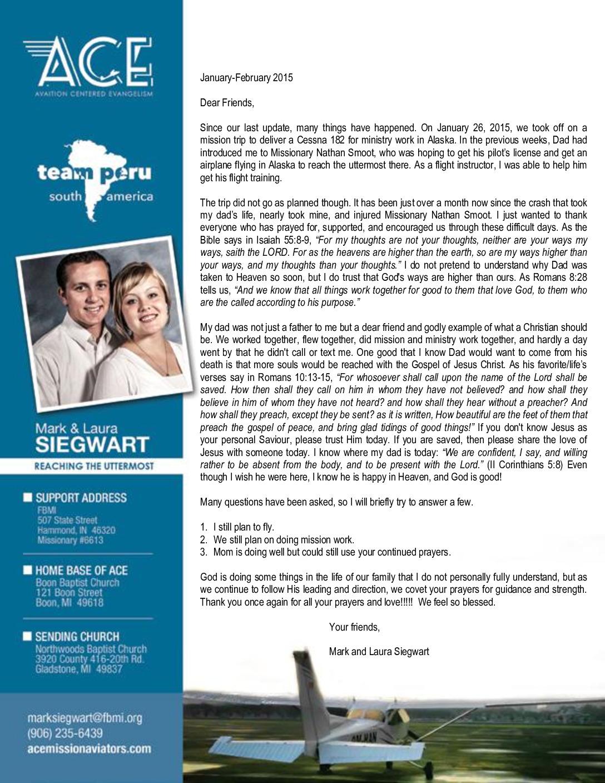 thumbnail of Mark Siegwart Jan-Feb 2015 Prayer Letter