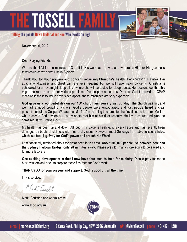 thumbnail of Mark Tossell November 2012 Prayer Letter