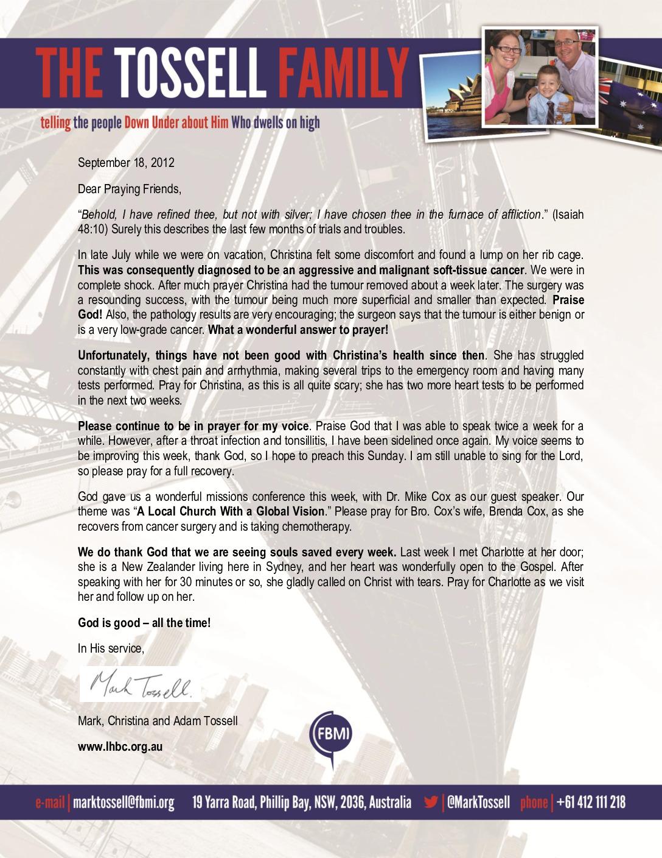 thumbnail of Mark Tossell September 2012 Prayer Letter