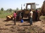 Pastor Rexford Praying Before Ground is Broken in Sunyani