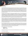 Mshama Kinyonga Prayer Letter:  New Stateside Address