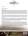 Abraham Avila Prayer Letter:  A Whirlwind of Events