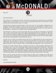 Corey McDonald Prayer Letter:  Survey Trip