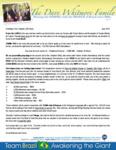 Dave Whitmore Prayer Letter:  New Church for Team Brazil
