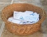 Basket with Faith Promise Pledges