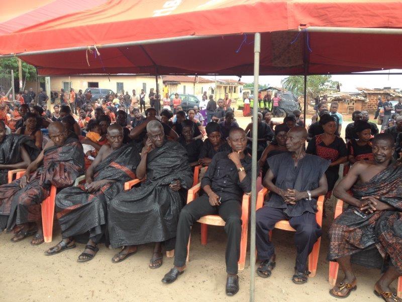 Mourners at the funeral of Adwoa Obisiwu