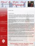 Paul Sock Prayer Letter:  Working in Warsaw