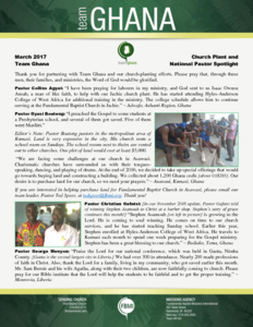 Ghana National Pastor Spotlight: A Need for Land in the City