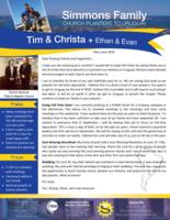 Tim Simmons Prayer Letter:  Full-Time Deputation--Here We Come!