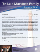 Luis Martinez Prayer Letter:  20 Years on the Field of Puerto Rico