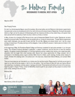 Mark Holmes Prayer Letter:  Furlough Plans and Field Victories