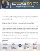 Paul Sock Prayer Letter:  Unexpected Guests
