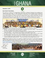 Team Ghana Update: Pastors' and Workers' Conference 2018