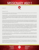 Missionary #6011 Prayer Letter:  Soul-Winning Partners Across the World