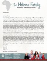 Mark Holmes Prayer Letter:  Celebrating a New Addition