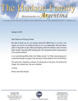 Simeon Hudson Prayer Letter:  Heaven Is a Breath Away