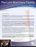 Luis Martinez Prayer Letter:  So Thankful!