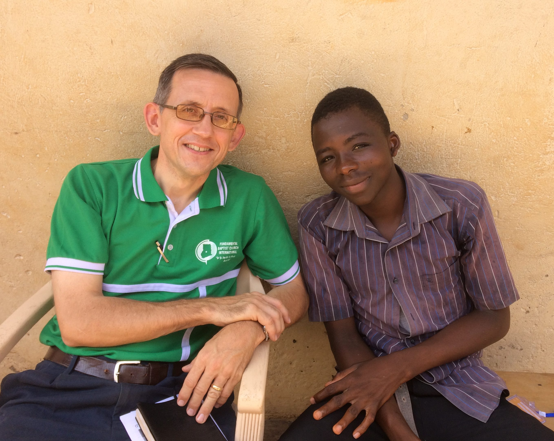 Missionary Mike Sarver with convert Hafiz Iddrisu