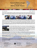 Xavier Lopez Prayer Letter:  Souls Saved, Baptisms, New Converts, and Another Church Plant!