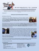 Go Oishi Prayer Letter:  42,000 Japanese Gospel Pamphlets Donated for the Olympics!