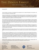 Tom Dinius Prayer Letter:  Privileged to Be a Light in the Darkness