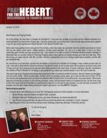 Brian Hebert Prayer Letter:  Blessings and Burdens