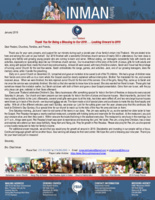 Chad Inman Prayer Letter:  Thank You for 2018 Blessings . . . Looking on to 2019