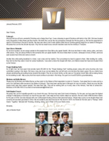 Jerry Wyatt III Prayer Letter:  Project Building Faith