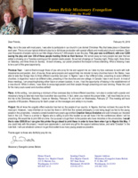 James Belisle Prayer Letter: Plans and Projects for 2019