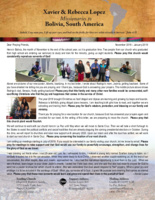 Xavier Lopez Prayer Letter:  Souls Saved and Baptized, Growing Seminary, Answered Prayer, and Short Furlough