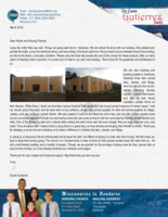 Osmin Gutierrez Prayer Letter:  Our Building Is Almost Finished!